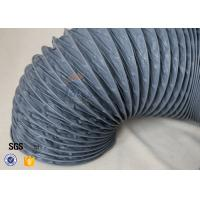 Buy cheap Fire Resistant 200℃ PVC Coated Fiberglass Flexible Air Duct For Ventilation from wholesalers