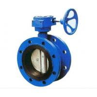 China Double Flanged Cast Steel Butterfly Valve Adjust Tightness With Hand Wheel Dn50 - Dn400 wholesale