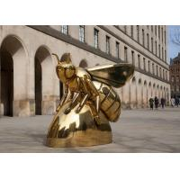 Buy cheap Contemporary Art Titanium Finish Stainless Steel Honey Bee Sculpture from wholesalers
