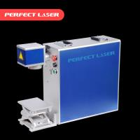 China Colorful Fiber Laser Marking Machine Air Cooling For Stainless Steel on sale