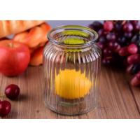 China Empty Bright Clear Glass Jars / Decorative Wide Mouth Glass Jars Large Capacity wholesale