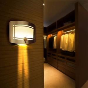 Colorful Wireless Motion Sensor Ceiling Light , Household Battery Led Lights