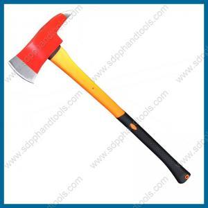 China 3.5LB firefighter axe with fiberglass handle, firemen