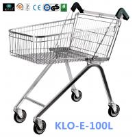 China Zinc Plated Low Carbon Steel UK Shopping Cart 100L European Style wholesale