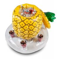 China Phthalate Free Pool Inflatable Pineapple Cooler , Holds 5 Drinks wholesale