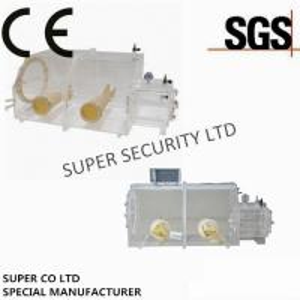 China Acylic Laboratory Glove Box / Vacuum Glove Box  For Testing Under Sealed Atmosphere on sale