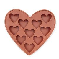 China 10 Cavities Silicone Heart Shaped Ice Cube Trays For Chocolate Ice Cream Cake wholesale