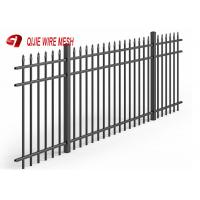 China Black Wire Mesh Fence Panels Aluminium Spear Top Fencing For Residential Use wholesale