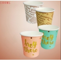 China colorful good style disposable taste small cup,100ml paper cup for drinking and promotional wholesale