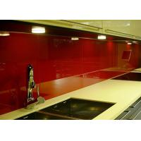 China Red Painted Glass Backsplash Toughened Custom Pattern Heat Resistance wholesale