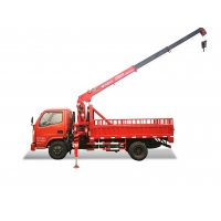 China SQ3.2S3 3.2T Truck Mounted Telescopic Boom Crane With Dongfeng Chassis wholesale