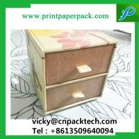 China Custom Recyclable  Sliding Double Drawer Handmade Jewelry Packaging Paper Box Paperboard Gift Box with Ribbon Handle wholesale