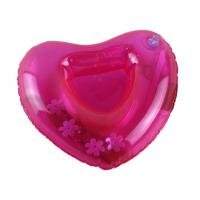 China Red Sweat-heart Shape Inflatable Drink Holder PVC Pool Floating Holder 18*18cm wholesale