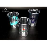China Colored Crystal Clear Plastic Party Cups Excellent Beverage Visibility wholesale