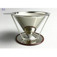 China Reusable Pour Over Coffee Filter Stainless Steel Stable V Style Dripper wholesale