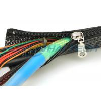China High Flame Retardant Zipper Cable Sleeve Braided Wrap Customized Size Light Weight wholesale
