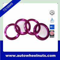 China 4pcs Colorful Aluminum Hub Centric Rings With Aluminum / Plastic wholesale