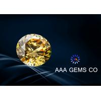 China 0.25 Carat 4 MM Yellow Moissanite Diamond For Rings , Earrings wholesale