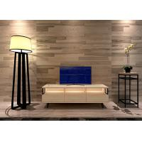 China Three Drawer Melmaine Modern TV Stand Furniture with Solid Wood Legs and LED Light wholesale