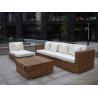 Indoor / Outdoor Rattan Furniture , Cane Corner Sofa For Meeting Room Manufactures