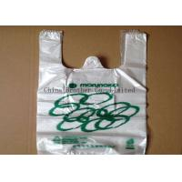 China Colored Custom Printed Plastic Shopping Bags Ldpe / Hdpe Material With Handles on sale
