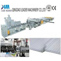 China UV protected PC twin wall/honeycomb sheet extrusion line on sale