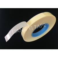 Polyester Film Non Woven Fabric Tape , Rubber Adhesive Yellow Insulation Tape