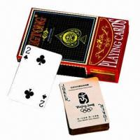 China Gold Foil Playing Cards with Laser Surface Treatment/4C Printing, Customized Logos are Accepted wholesale