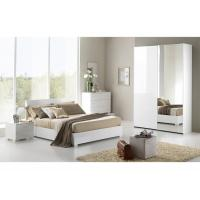 China High Gloss Childrens Bedroom Furniture Sets White Color Lacquer Painting Finish wholesale