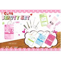 China MANICURE SET IN PVC POUCH WITH KEYCHAIN wholesale