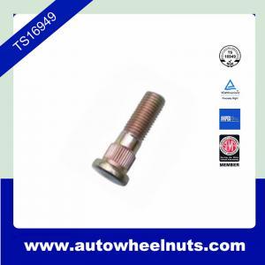 China 10.9 Grade Long Zinc Wheel Knurl Stud Replacement O.D.14.2mm Length 48.4mm wholesale