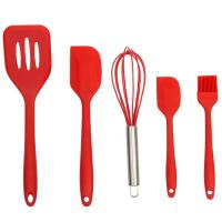 China Food Grade Silicone Kitchen Utensils Soft Safe Silicone Cooking Tool Reusable Kitchenware on sale
