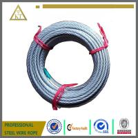 Quality promotion stock galvanized steel wire rope for lifting 7x19/7x7 for sale
