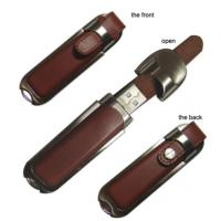 Stylish Metal and Leather USB Stick Flash Drive for Windows 7 System hi-speed samsung chip Manufactures
