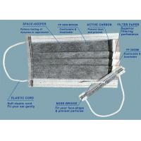 China Disposable 3 / 4 Ply Disposable Breathing Mask , Non Woven Comfortable Sterile Face Mask wholesale