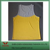 China Newest 100% Polyester Tank Top W/ Contrast Colors on sale