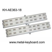 China Customized 18 Keys Stainless steel Keyboard for Door Access System wholesale