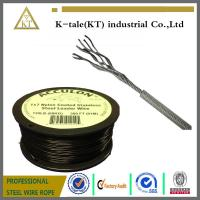 China hot sale in usa 0.9-2mm PA/PVC/Nylon coated stainless steel wire rope for equipment wholesale