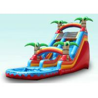 China Red Tropical Kids Garden Water Slide With Pool , Blow Up Water Slide Backyard Inflatable Water Slide wholesale