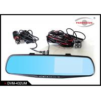 Buy cheap HD Dual Lens Car DVR Rear View Carmera Mirror Monitor Night Vision 4.3 Inch TFT LCD Display from wholesalers
