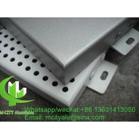 China Perforation Hole Aluminum Solid Panel Architectural Metal Cladding , Aluminum Panels For Buildings wholesale
