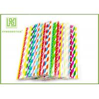 China Personalized Pink Party Paper Straws For Holidays 197MM Logo Printable wholesale