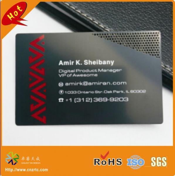 matte black metal card