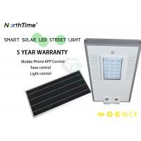 China 18W LED Solar Street Lights With Lithium Battery 12V 13AH / Solar Wall Lamp wholesale