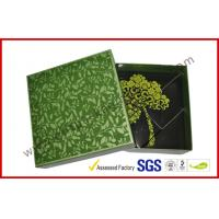 China Rectangle Afternoon Tea Chocolate Packaging Box , Handmade Green Chocolate Gift Packaging Boxes wholesale