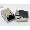 China Offset / Overhangs PCB Magnetic RJ45 Jack SMT With EMI Finger Side Entry wholesale