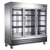 China 380W / 550W Commercial Vertical Freezer Three Door Environmental friendly on sale