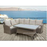 China Aluminium Metal Garden Patio Seating Sets Rattan Wicker Furniture UV Resistance wholesale