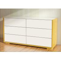 China 1.1 Meters Length High Gloss Bedroom Furniture 6 Drawer Chest /Dresser With E1 Board wholesale