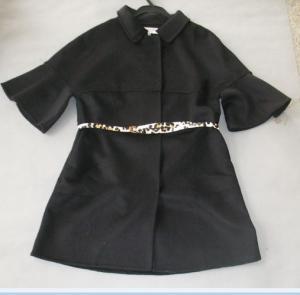 China Chic Fashionable Winter Coats Flare Sleeves Snap Closure Womens Wool Winter Coats wholesale